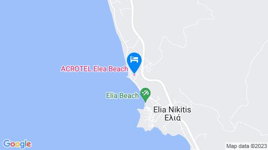 Acrotel Elea Beach Map