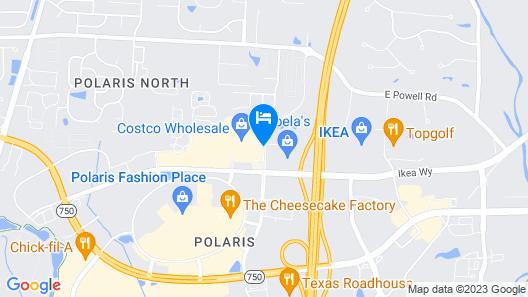 Cambria Hotel Columbus - Polaris Map
