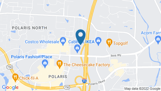 Staybridge Suites Columbus Polaris, an IHG Hotel Map