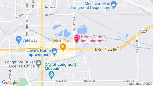 Hilton Garden Inn Longmont Map