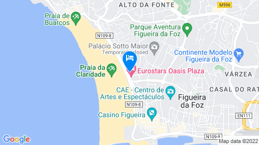 Figueira da Foz Apartments - AMOR DE VERÃO, central T2 50 meters from the beach w / TV Map