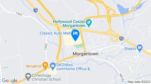 Holiday Inn Morgantown/Pennsylvania Turnpike Exit 298 Map