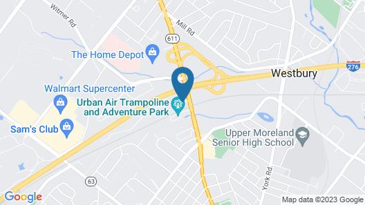 Hampton Inn Philadelphia / Willow Grove Map