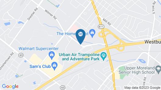 SpringHill Suites Philadelphia Willow Grove Map