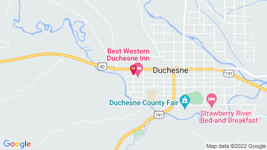 Best Western Duchesne Inn Map