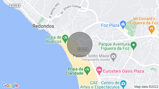 Figueira da Foz Apartments - TASTE A SUMMER, T1 in front of the beach with garage Map