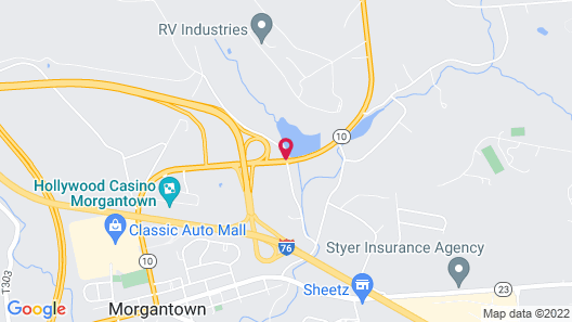 USA Inn and Suites Morgantown Map
