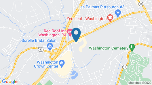 Days Inn by Wyndham Washington Pennsylvania Map