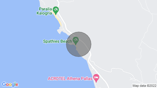 Greenlea Beachfront Villa, Spathies Map