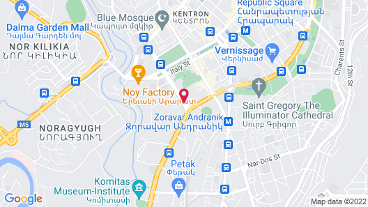 DoubleTree by Hilton Hotel Yerevan City Centre Map