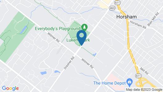 Extended Stay America Suites Philadelphia Horsham Dresher Rd Map