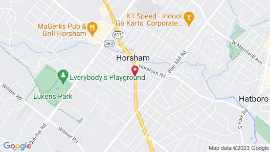 Comfort Inn Horsham - Philadelphia Map