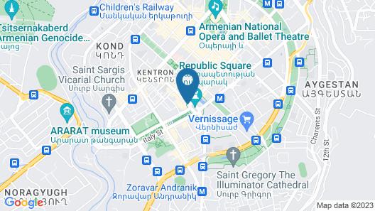 Armenia Marriott Hotel Yerevan Map