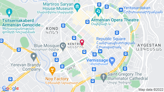 Paris Hotel Yerevan Map