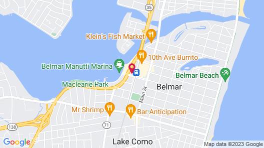 Belmar Motor Lodge Map