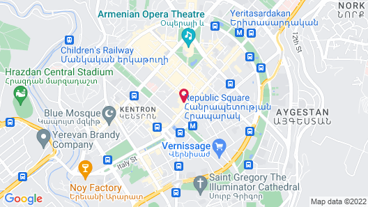 Golden Palace Hotel Yerevan Map