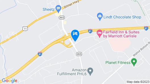 Holiday Inn Express & Suites Carlisle Southwest – I-81 Map