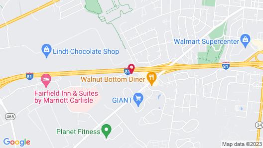Best Western Carlisle South Map
