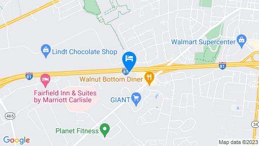 Super 8 by Wyndham Carlisle-South Map