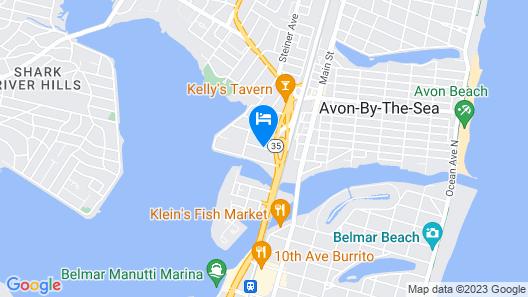 Americas Best Value Inn Neptune Map