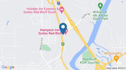 Hampton Inn & Suites Red Bluff Map