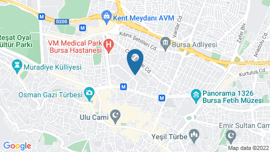 Furnished Apartments in Bursa Map