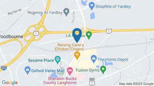 Holiday Inn Express Philadelphia NE - Langhorne Map