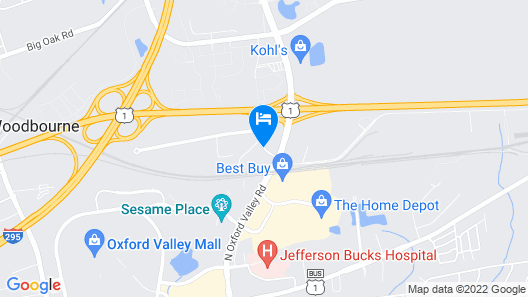 Holiday Inn Express Philadelphia NE - Langhorne Map