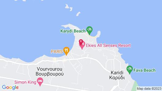 Ekies All Senses Resort Map