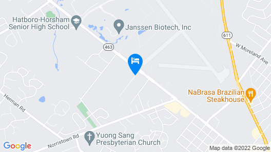 Towneplace Suites by Marriott Horsham Map