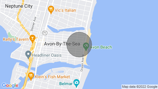 OCEAN VIEW: Classic Avon Shore House Half Block From Beach With Parking Map