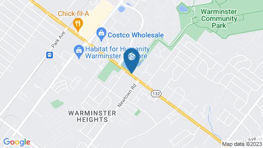 Motel 6 Warminster, PA Map