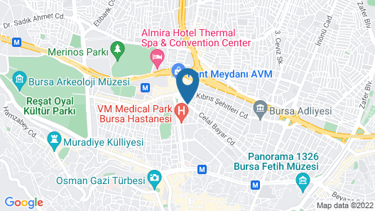BURSA ŞAHİN OTEL Map