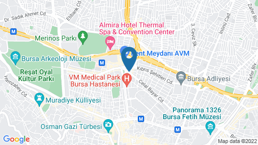 Tugcu Hotel Select Map