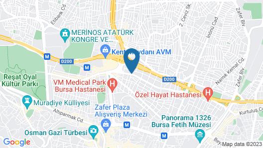 Bursa Ulupark Hotel Map