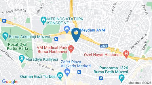 Derya Hotel Map