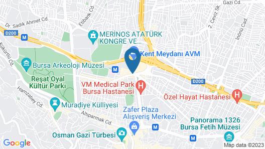 Kardes Hotel Map