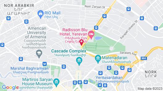 Radisson Blu Hotel, Yerevan Map
