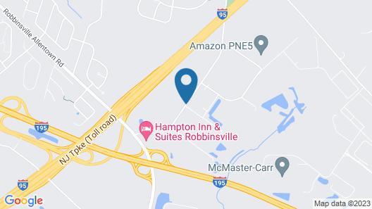 Hampton Inn & Suites Robbinsville Map