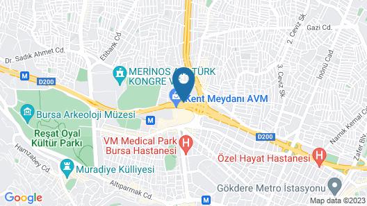 Lion City Hotel Map