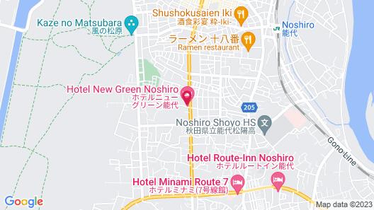 Hotel New Green Noshiro Map