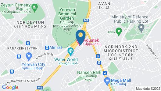 Aquatek Resort & Spa Hotel Map