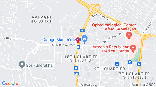 Aghababyan's Hotel Map