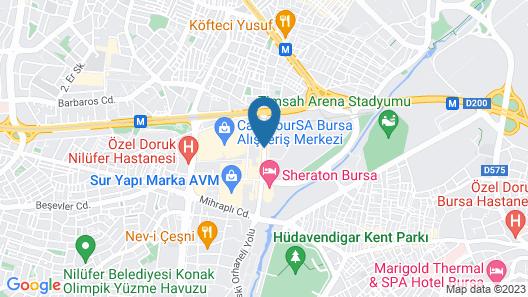 Sheraton Bursa Hotel Map