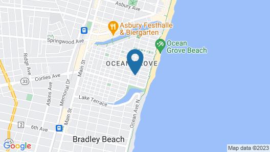 The Inn at Ocean Grove Map