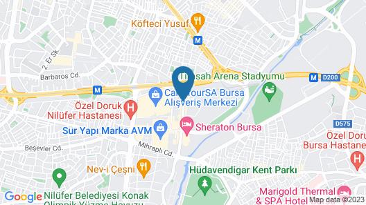 Crowne Plaza BURSA, an IHG Hotel Map