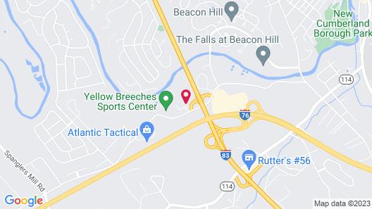Motel 6 New Cumberland, PA - Harrisburg - Hershey South Map