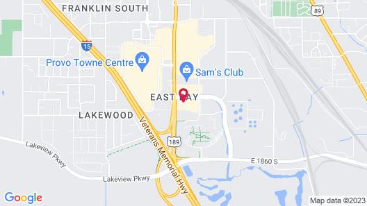 Hampton Inn Provo Map