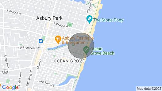 Cozy Ocean Grove Beach Retreat: Walk to the Coast! Map