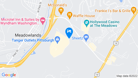 Courtyard by Marriott Pittsburgh Washington/Meadow Lands Map